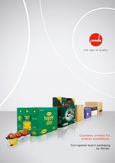 Rondo Corrugated board packaging