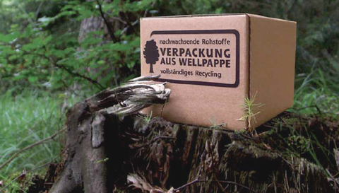 Wellpappe Natur